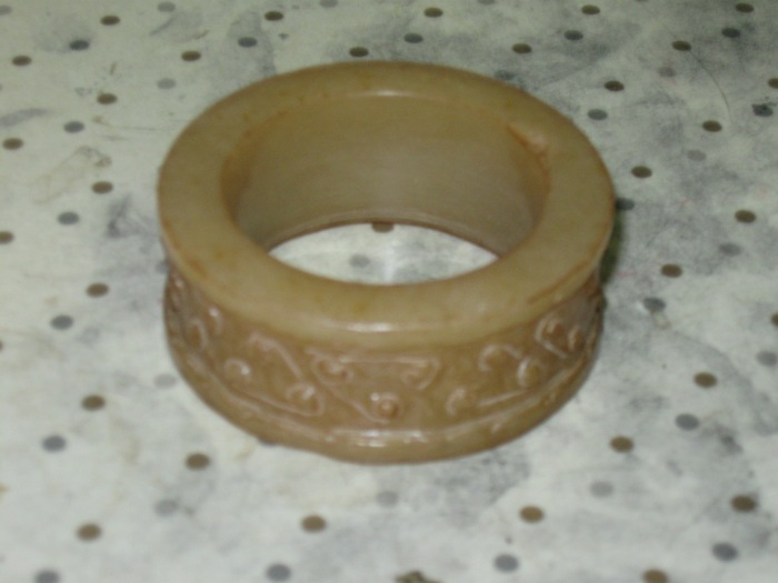 Ming Dynasty yellow nephrite jade hair circle